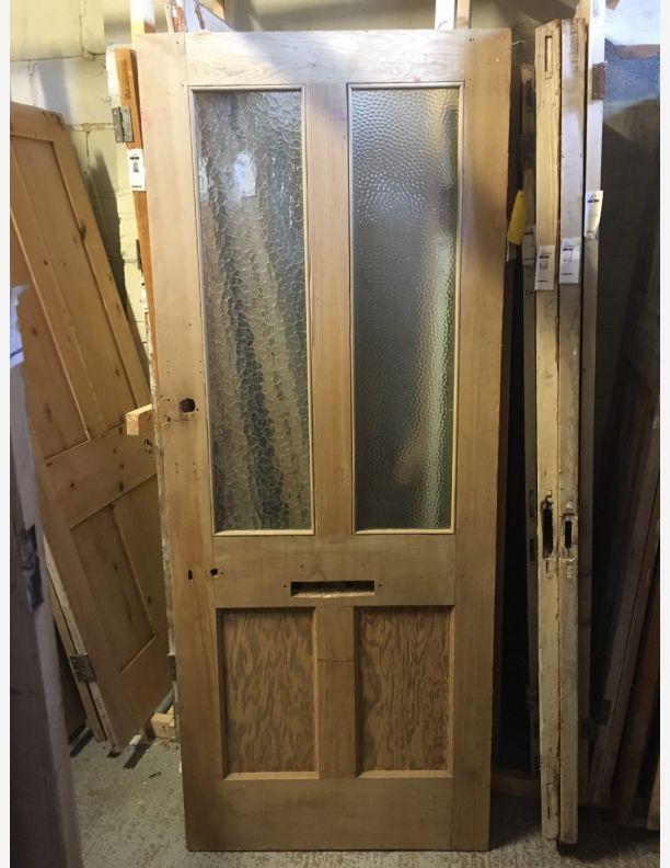 2467 - Half glazed victorian 4 panel door