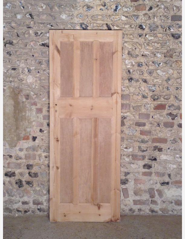 322 - 1920s 3 over 3 panel interior door
