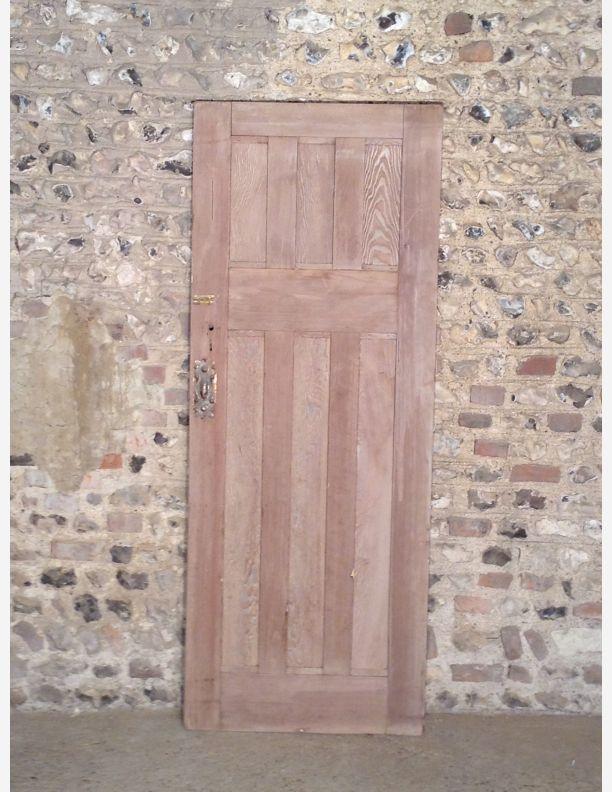 372 - 1920s 3 over 3 panel interior door