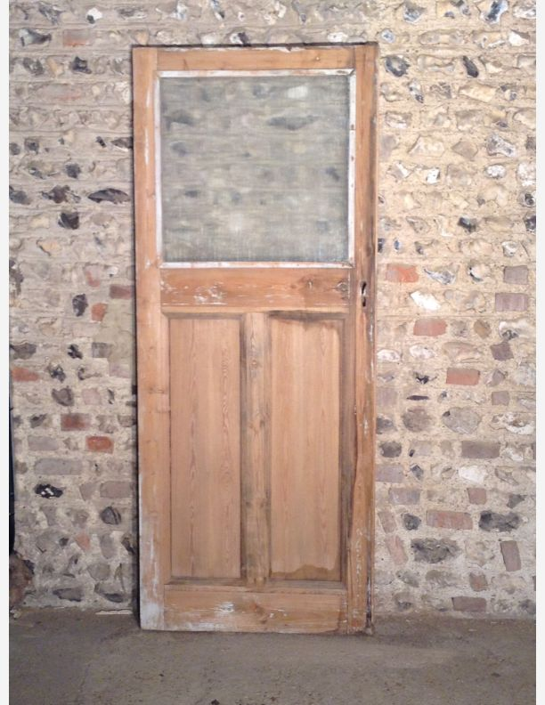 Incroyable Reclaimed 1 Over 2 Half Glazed Internal Or Garage Door