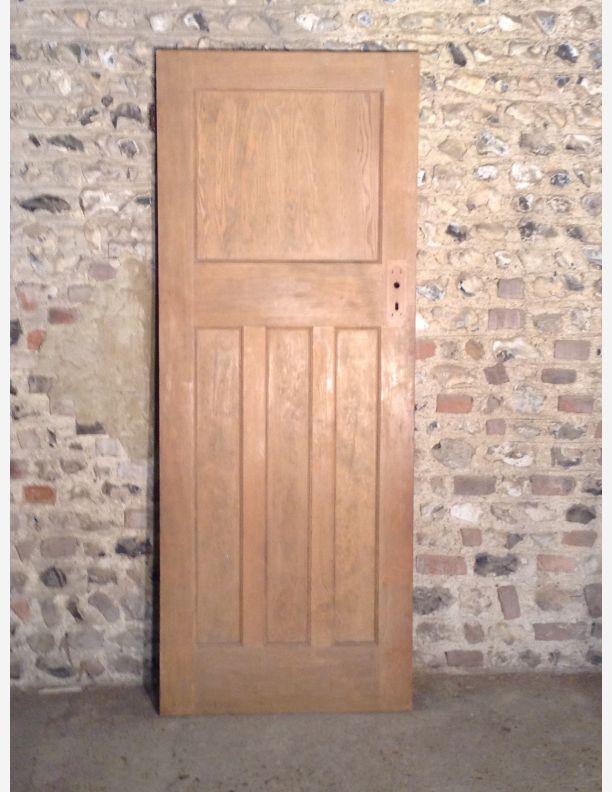 Q546 1930s 1 over 3 panel internal door with integral for 1 over 3 panel door