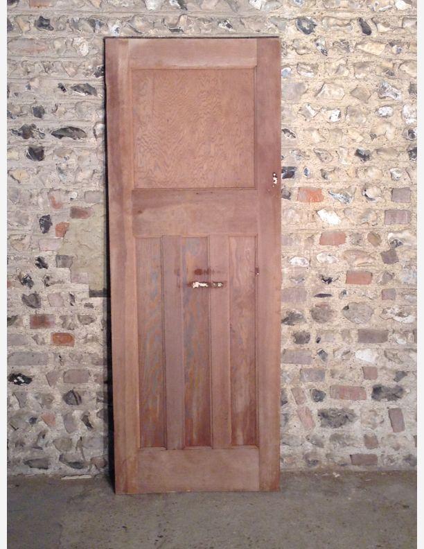 557 - 1930s 1 Over 3 Panel Internal Door with Integral Moulding