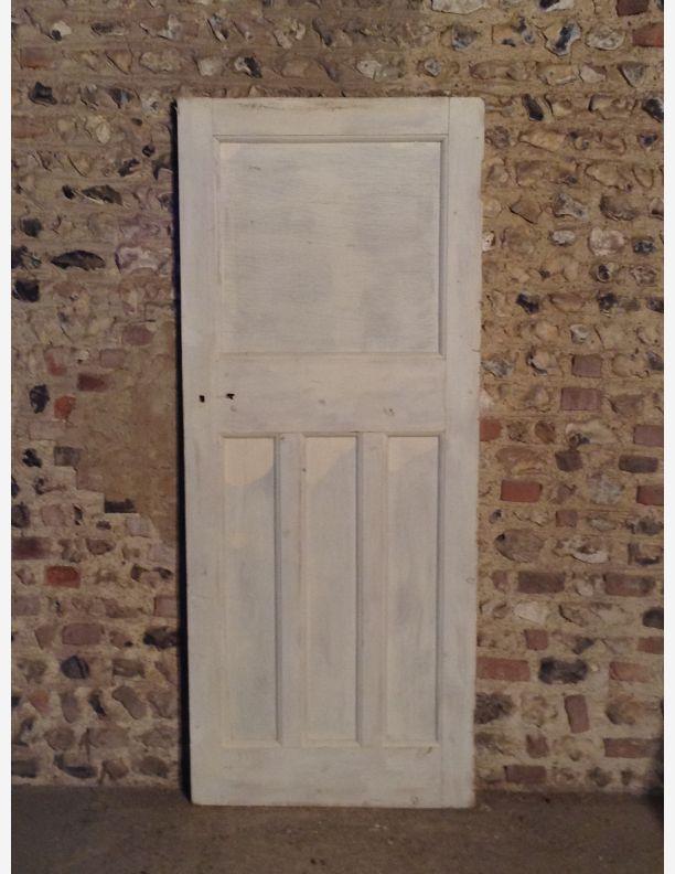R589 1930s 1 over 3 panel internal door with integral for 1 over 3 panel door