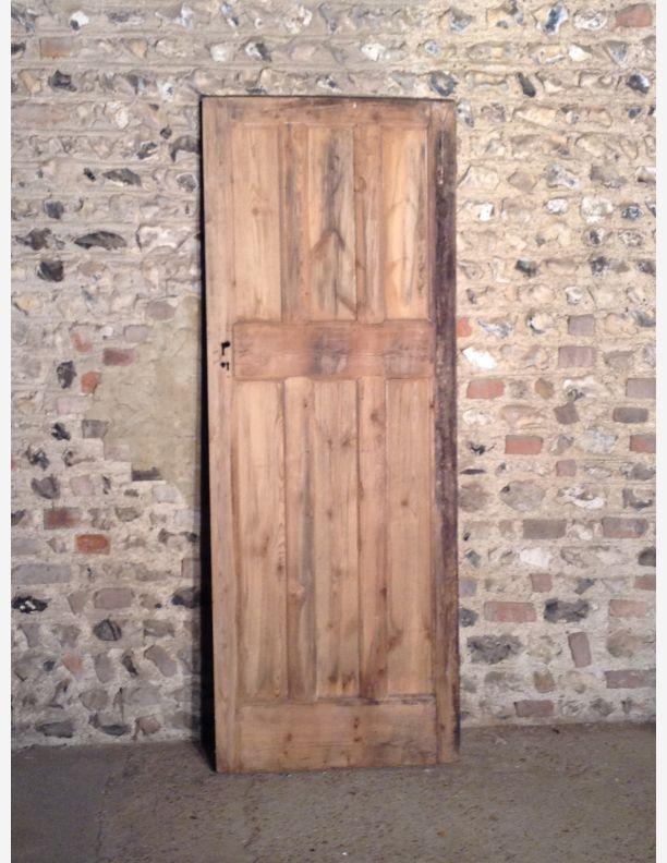 597 - 1920s 3 Over 3 Panel Internal Door with Integral Moulding