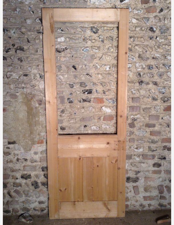 S612 half glazed 1 over 2 panel shaker style internal door for 15 panel glazed internal door