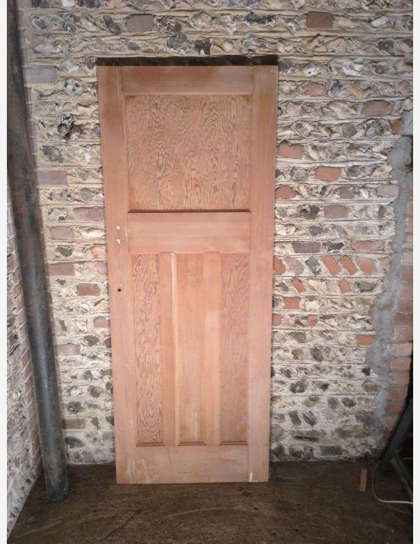 Q725 77 x 29 3 4 x 1 3 8 1 over 3 panel 1930s door by for 1 over 3 panel door