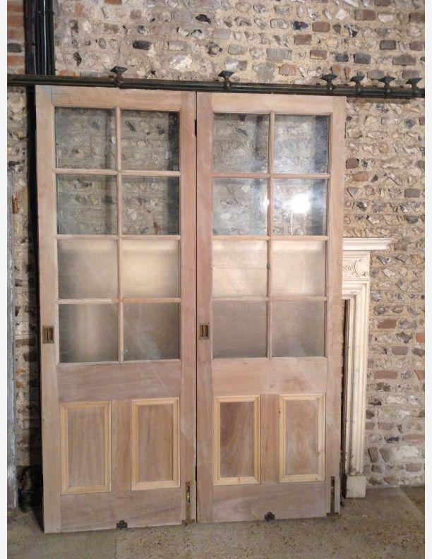 727 - Victorian three quarter glazed Room Dividers