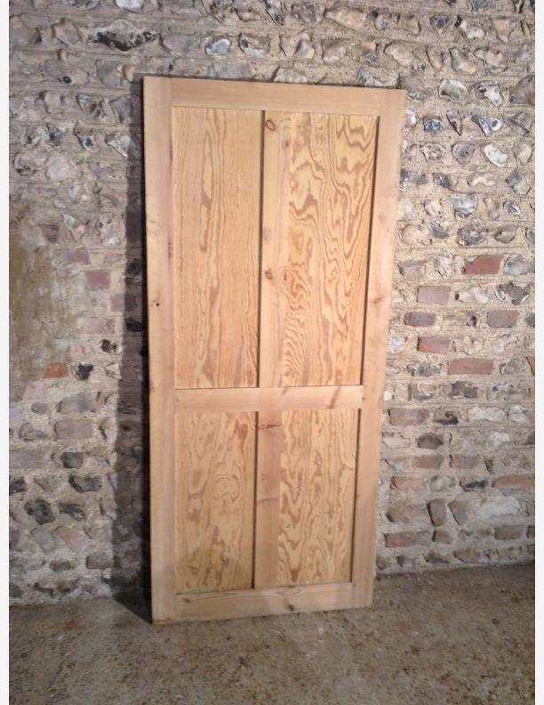 850 - 4 panel shaker stripped pine door