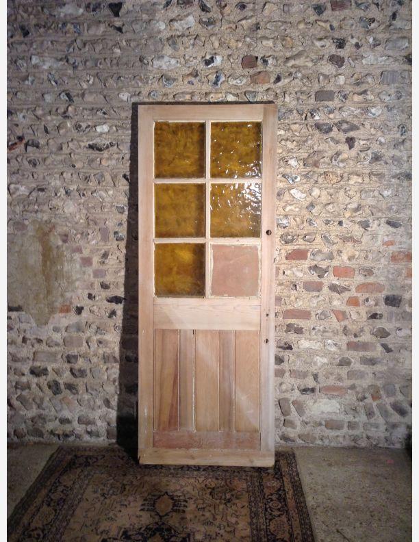 976 - external 6 pane glazed cottage door