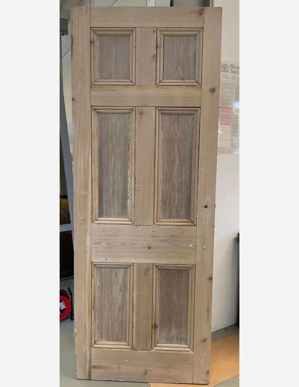 2831 - 6 panel Georgian pine door