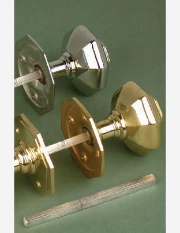 673 - Brass Regency 73mm  Octagonal Mortise Door Pull