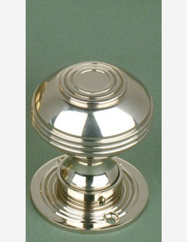 675 - Georgian bloxwich pattern Nickel door knob 2 inch