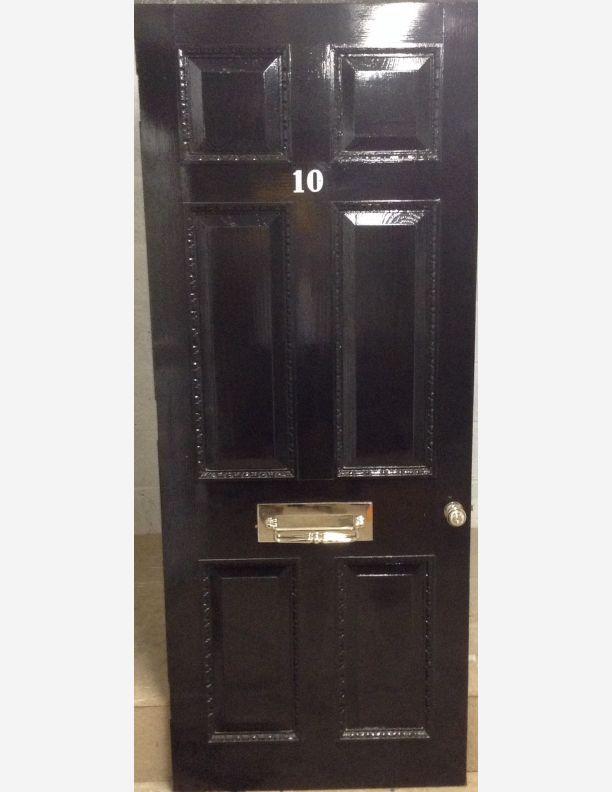 1050 - Georgian 6 panel raised and fielded front door