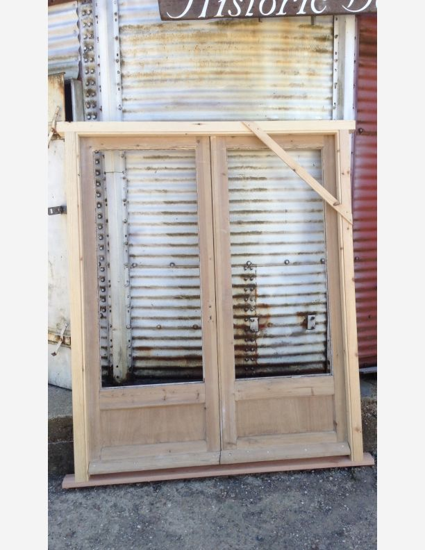French doors reclaimed and set in a new frame by historic for French doors for sale uk