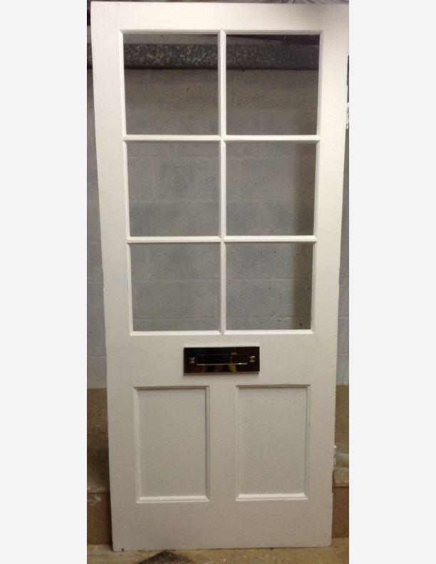 1048 - 6 lite half glazed Victorian front door