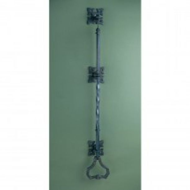 1073 - Gothic Litchfield bell pull blackened brass Bpli(black)