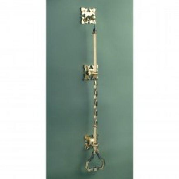 1072 - Gothic Litchfield bell pull brass Bpli