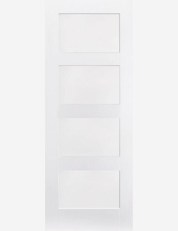 2170 - White Shaker 1950 style doors 4 vertically stacked panels