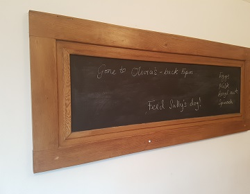 Upcycled door blackboard