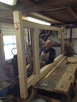 Chris frame making in the workshop
